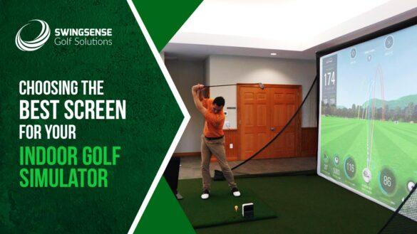 Choosing golf simulator screen