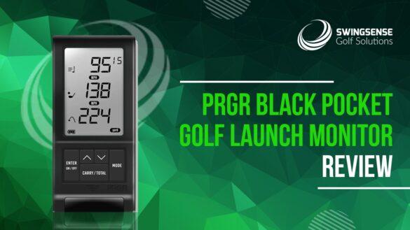 PRGR Black Pocket Golf Launch Monitor.