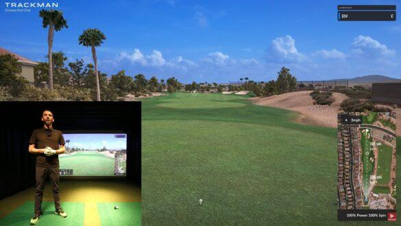 Trackman Golf Simulator - Playing 9 Holes At Chimera With Trackman 4