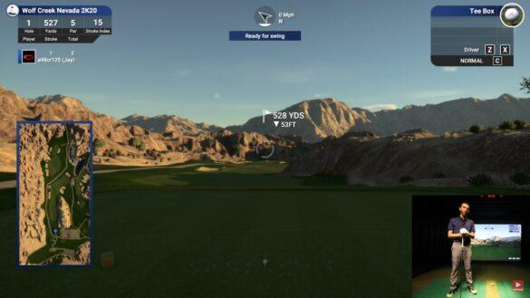 Playing Wolf Creek On TGC 2019 : UNEEKOR EYE Golf Simulator (4K)