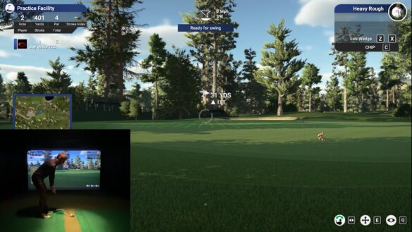 TGC 2019 Chipping on the Flightscope Mevo Plus Golf Simulator