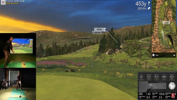 Playing Whistler Golf Club with Uneekor QED Golf Simulator (E6 Connect)