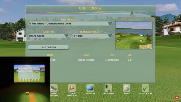 Creative Golf 3D Simulator with Flightscope Mevo+ at The Island Golf Club
