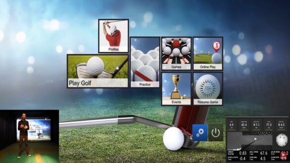 E6 Connect with UNEEKOR QED Golf Simualtor Playing Grand Country Club