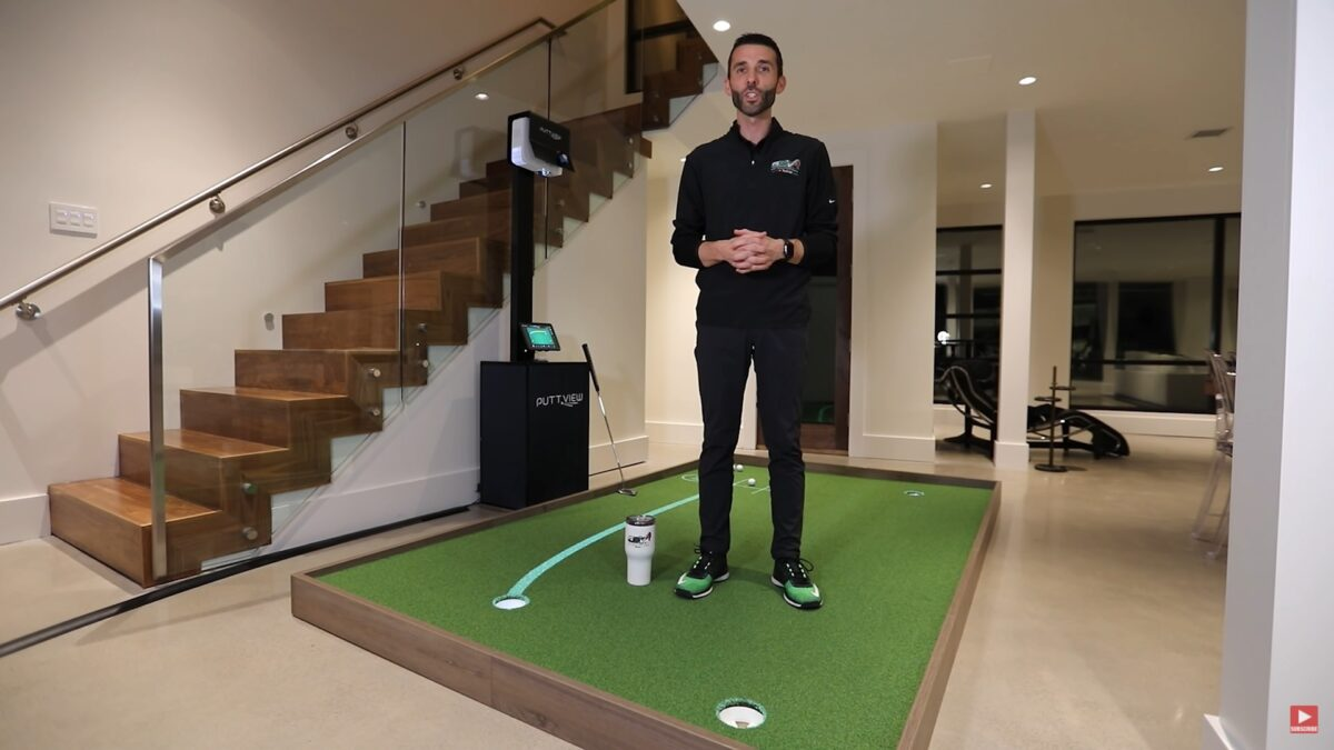 PUTTVIEW P7 (Plus) – FIRST LOOK & REVIEW – Indoor Home Putting Green