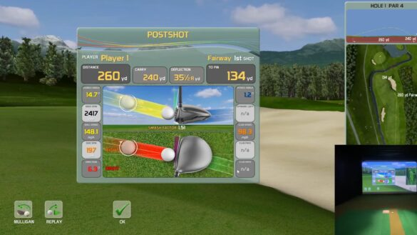 Creative Golf 3D Review - Golf Simulator Course Demo - Flightscope Mevo+