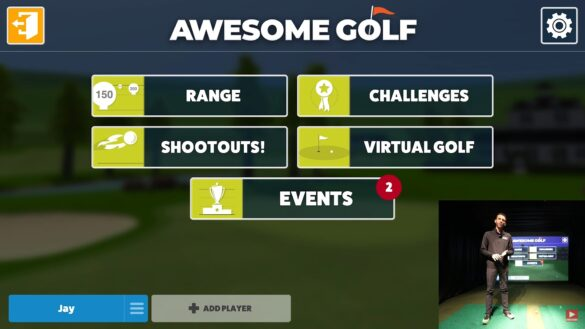 Awesome Golf Simulator Software - Range Overview with Flightscope Mevo+