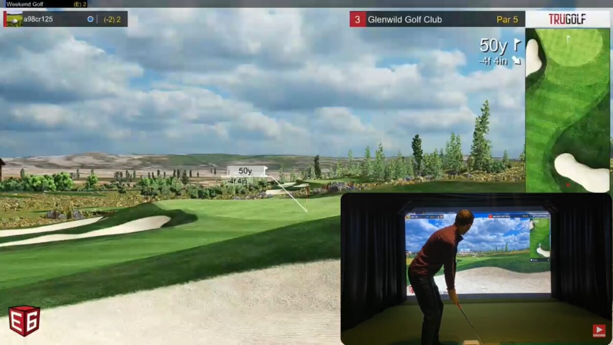 Playing E6 Connect Online On A Flightscope Mevo+ Indoor Golf Simulator
