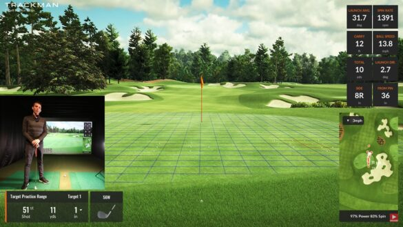 Trackman 4 - Putting & Chipping Review (Virtual Golf 2 Golf Simulator Software)