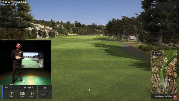 Trackman Golf Simulator - Playing Pebble Beach Golf Course